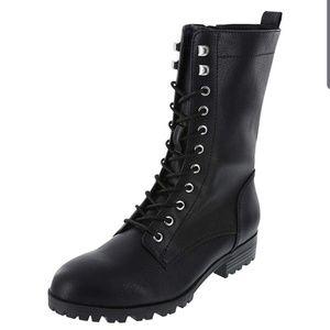 Brash Steff Black Lace-up Boot